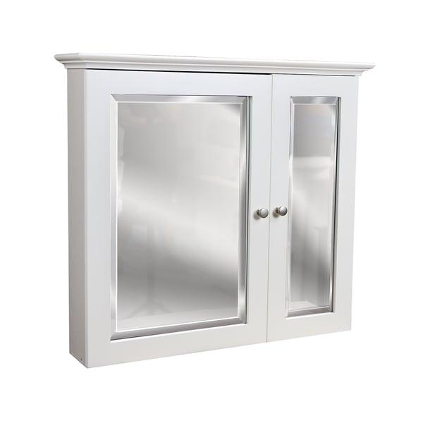 2door white medicine cabinet