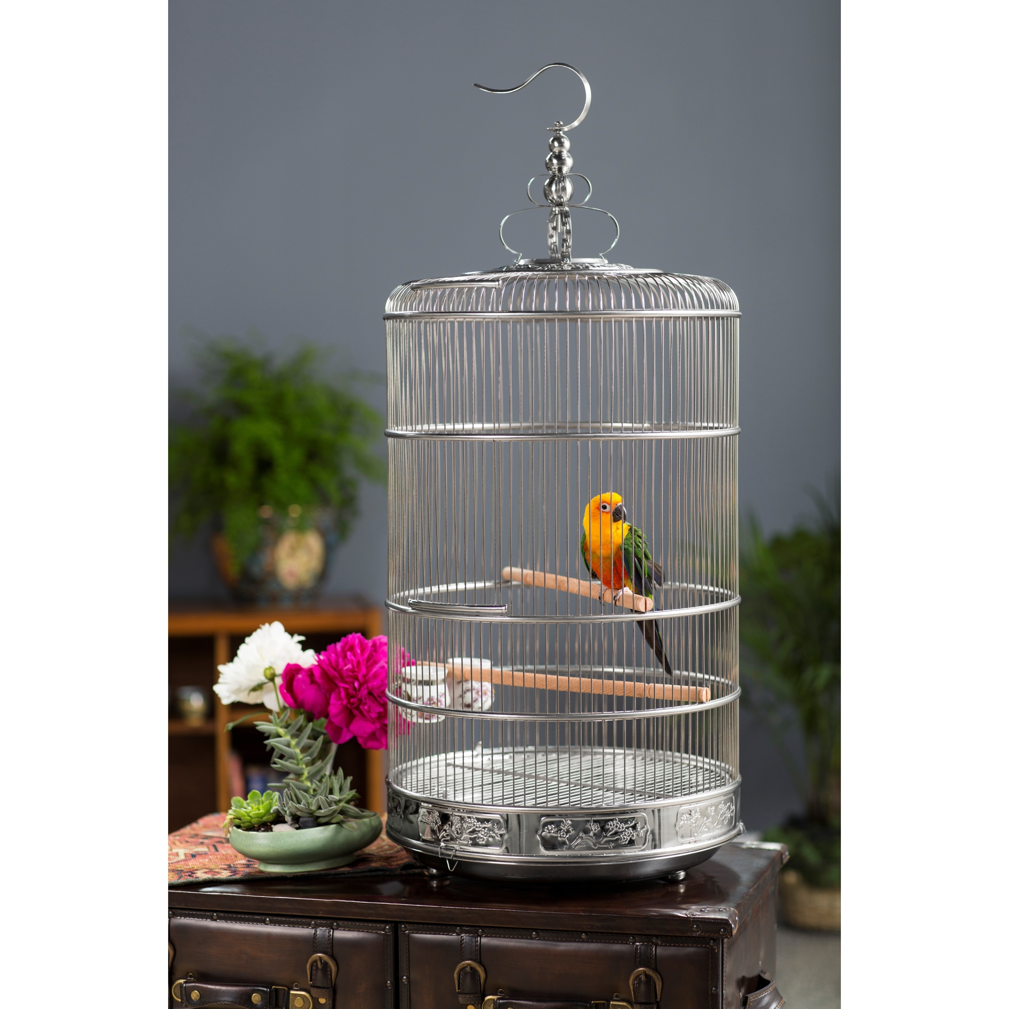 Prevue Pet Products Dynasty Bird Cage (Large), Silver