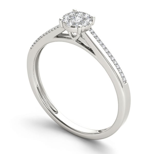 De Couer IGI Certified 10k Gold 1/6ct TDW Diamond Composite Engagement Ring. Opens flyout.