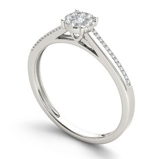 De Couer 10k Gold 1/6ct TDW Diamond Composite Engagement Ring