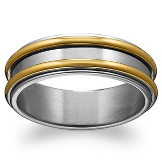 Titanium Two-tone Polished Spinner Band