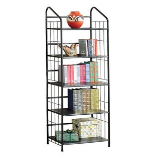 Porch & Den Eglantina Black Metal 5-tier Shelf