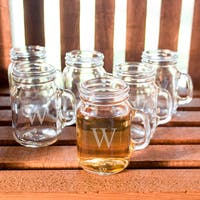 Personalized Mini Drinking Jar Shot Glasses (Set of 6)