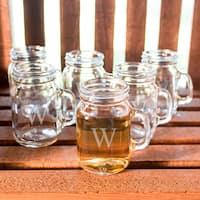 Personalized Mini Drinking Jar Shot Glasses (Set of 6)