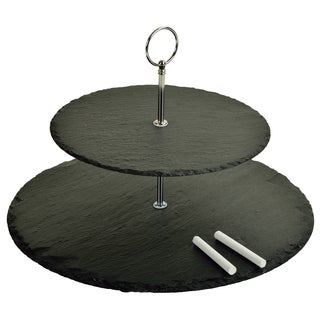 Serat Two-layer Round Slate Server