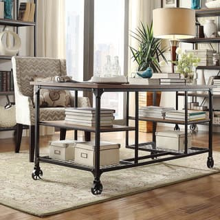 Nelson Industrial Modern Rustic Storage Desk by iNSPIRE Q Classic. Home Office Furniture For Less   Overstock com