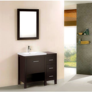 Kokols Free Standing Bath Vanity cabinet with Drop-in Porcelain Sink Combo
