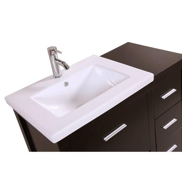Kokols Free Standing Bath Vanity Cabinet With Drop In Porcelain Sink Combo Overstock 9250506