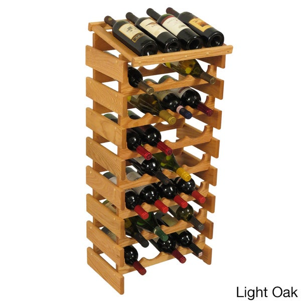 dakota 32bottle stackable wood wine rack with display top