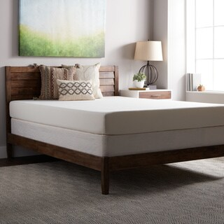SL Loft Medium Firm 8-inch Queen Size Memory Foam Mattress and Foundation Set - White
