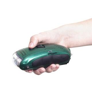 Emergency Essentials Green Wavelength Radio/ Flashlight