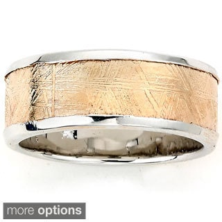 Samuel B. Sterling Silver Meteorite Eternity Band