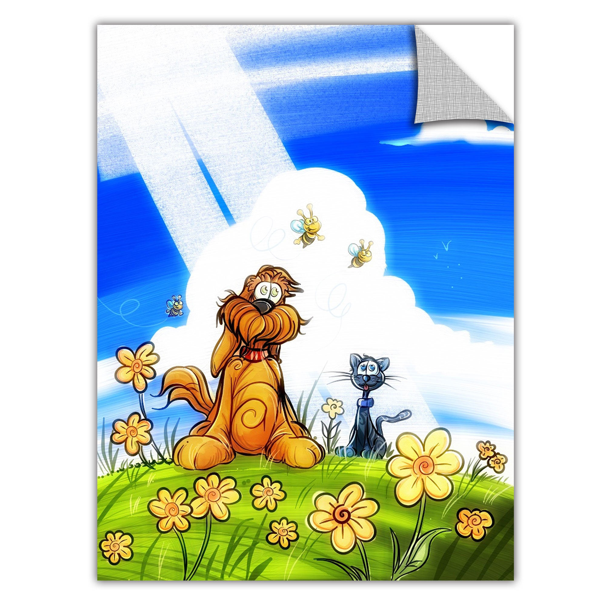 ArtWall Luis Peres 'Cat and Dog' Removable Wall Art Graph...