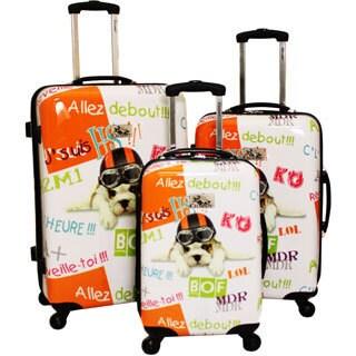 Chariot Fly Dog 3-piece Hardside Lightweight Upright Spinner Luggage Set