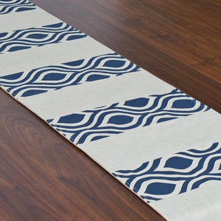 Nichole Indigo Laken 12.5 x 71-inch Pieced Table Runner