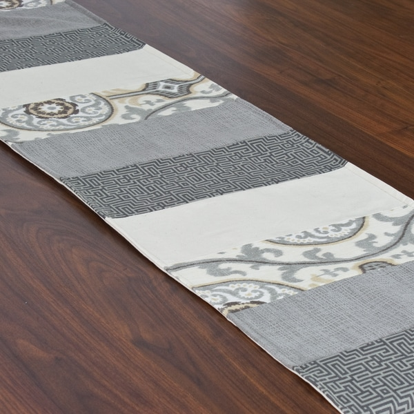 Oh Suzani Metal 12 5 X 71 Inch Pieced Table Runner Free