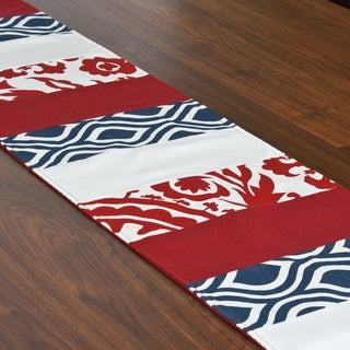 Red, White and Blue 12.5 x 71-inch Pieced Table Runner