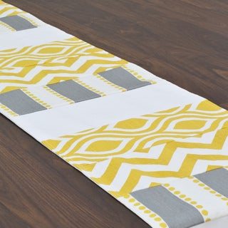 Lulu Storm Pieced 12.5 x 72-inch Table Runner