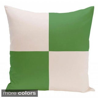 16 x 16-inch Two-tone Large Check Geometric Decorative Pillow