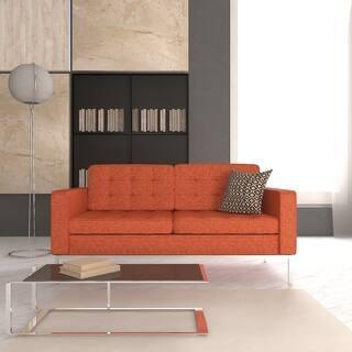 LeisureMod Lorane Modern Orange Twill Wool Fabric Studio Sofa|https://ak1.ostkcdn.com/images/products/9251778/P16417435.jpg?impolicy=medium