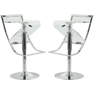 Shop Zig Zag Height Adjustable Bar Stool In Walnut Free