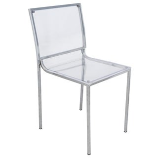 LeisureMod Almeda Acrylic Clear Transparent Dining Chair