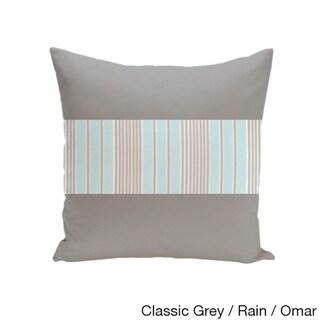 20 x 20-inch Color Block Stripe Decorative Throw Pillow (Classic Rain Omar)