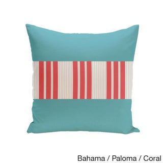 20 x 20-inch Color Block Stripe Decorative Throw Pillow (Bahama Paloma Coral)