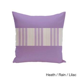 20 x 20-inch Color Block Stripe Decorative Throw Pillow (Heather Rain)