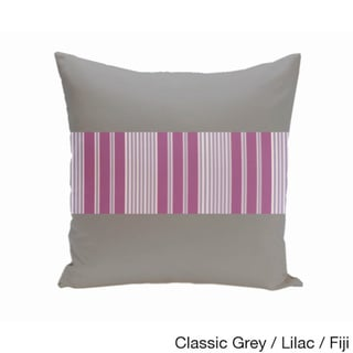 20 x 20-inch Color Block Stripe Decorative Throw Pillow (Classic Gray Lilac)
