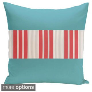 20 x 20-inch Color Block Stripe Decorative Throw Pillow