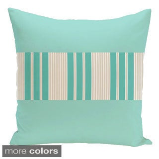 18 x 18-inch Color Block Stripe Decorative Throw Pillow