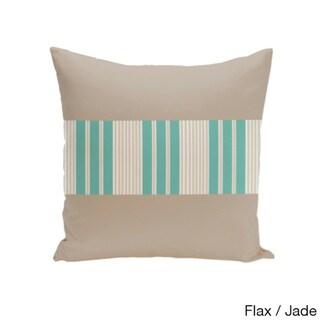 16 x 16-inch Color Block Stripe Decorative Throw Pillow (Flax Jade-16x16)