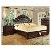 Furniture of America Lauretta English Style Brown Cherry 2-Piece Bedroom Set