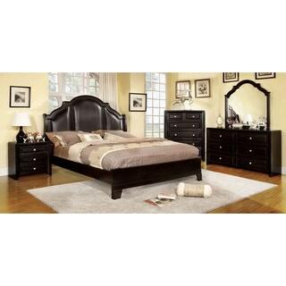 Furniture of America Crown Leatherette 4-piece Bedroom Set