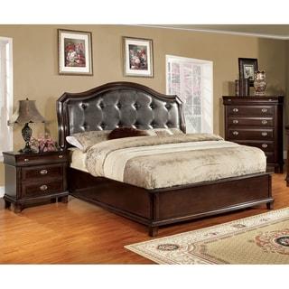 Furniture of America Qill Contemporary Cherry 3-piece Bedroom Set