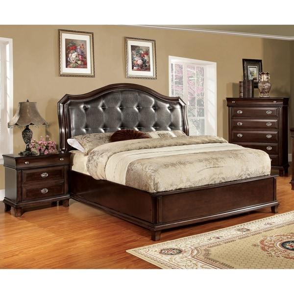 furniture of america crown 3 piece platform bedroom set