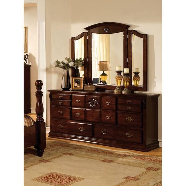 Shop Furniture of America Weston Traditional Pine 4-piece ...