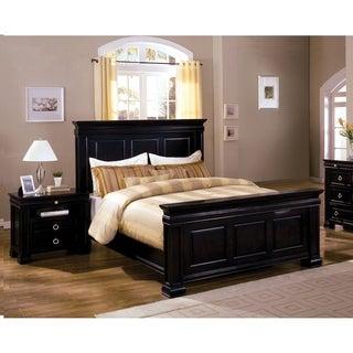 Furniture of America Hiaz Traditional Black 2-piece Bedroom Set