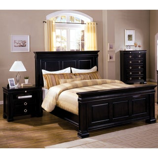 Furniture of America Claresse Traditional 3-piece Espresso Panel Bedroom Set