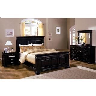 Furniture of America Hiaz Traditional Black 4-piece Bedroom Set