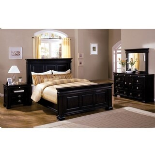 Furniture of America Claresse Traditional 4-piece Espresso Panel Bedroom Set