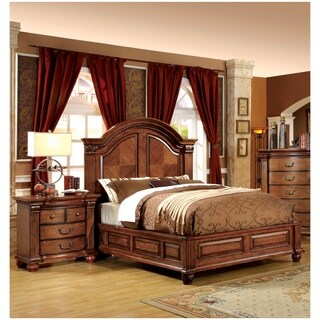 Furniture of America Traditional Style 2-piece Bed with Nightstand Set