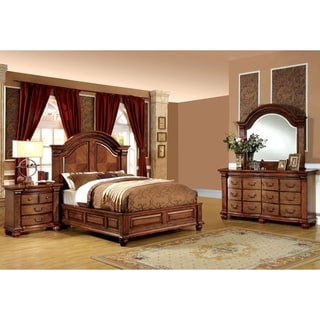Furniture of America Bigh Traditional Brown 4-piece Bedroom Set