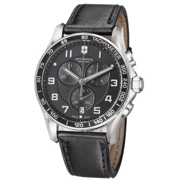 Shop Swiss Army Men S Chrono Classic Black Dial Black