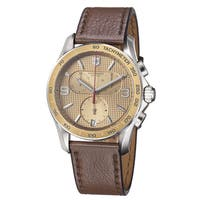 Victorinox Swiss Army Men's 241659 'Chrono classic' Chronograph Brown Leather Watch
