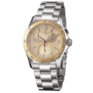Swiss Army Men's 241658 'Chrono Classic' Goldtone Dial Stainless Steel Quartz Watch