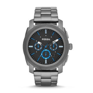 Fossil Men's Chronograph Machine Smoke-Tone Watch