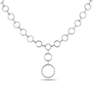 Miadora Sterling Silver 3/4ct TDW Diamond Circles Necklace (H-I, I2-I3)