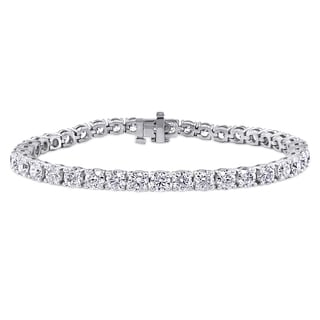 Miadora Signature Collection 14k White Gold 10ct TDW Diamond Tennis Bracelet